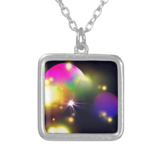 Planet Pinkie Silver Plated Necklace