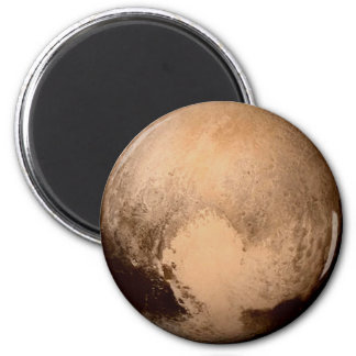 PLANET PLUTO - HAVE A HEART! (solar system) ~ 6 Cm Round Magnet