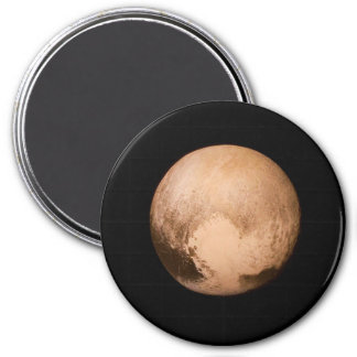 PLANET PLUTO - HAVE A HEART! (solar system) ~ 7.5 Cm Round Magnet