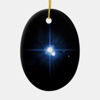 Planet Pluto moon Charon NASA Christmas Ornament