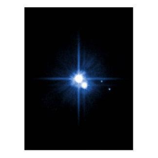 Planet Pluto moon Charon NASA Postcard