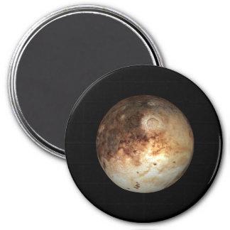 PLANET PLUTO natural ( solar system) ~ 7.5 Cm Round Magnet