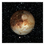 PLANET PLUTO star background ( solar system) ~ Poster