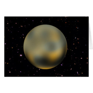 Planet Pluto Starry Sky Greeting Card