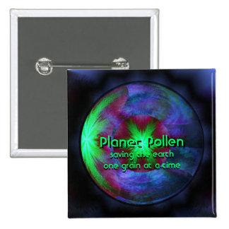Planet Pollen 15 Cm Square Badge