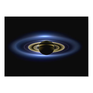 Planet Saturn in Front of the Sun 13 Cm X 18 Cm Invitation Card