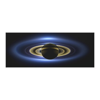 Planet Saturn in Front of the Sun Gallery Wrap Canvas