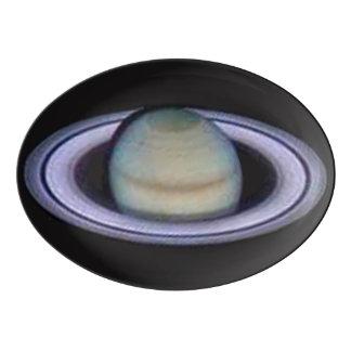 Planet Saturn Porcelain Serving Platter