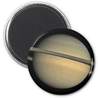 Planet Saturn Solar System 6 Cm Round Magnet