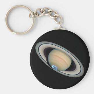 PLANET SATURN (solar system) ~ Basic Round Button Key Ring