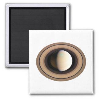 PLANET SATURN v.2 (solar system) ~~ Square Magnet