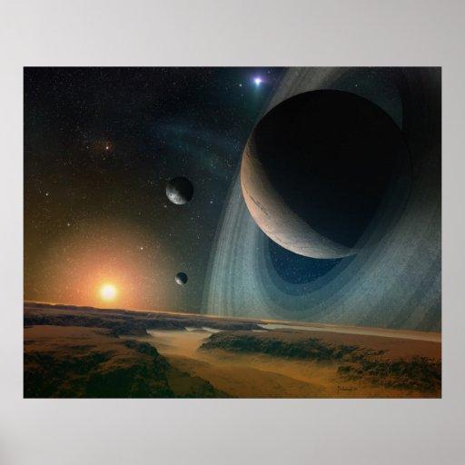 Planet scape - space art print