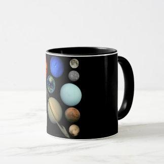 Planet solar system mug