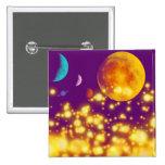Planet Sparkles Pinback Buttons