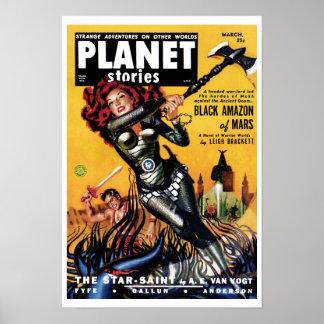 Planet Stories - Black Amazon of Mars Poster