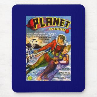 Planet Stories Vintage Sci Fi Comic Mouse Mat