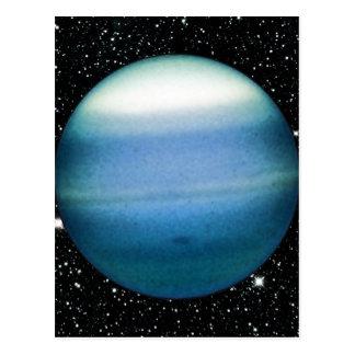 PLANET URANUS star background (solar system) ~ Postcard