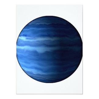 PLANET URANUS v2 (solar system) ~ 17 Cm X 22 Cm Invitation Card