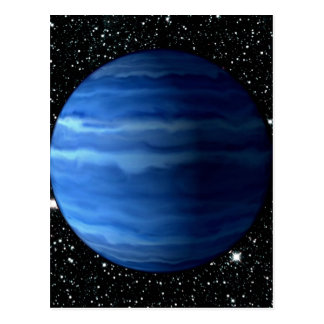 PLANET URANUS v.2 star background (solar system) ~ Postcard