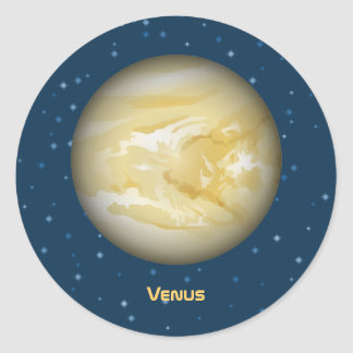 Planet Venus Classic Round Sticker