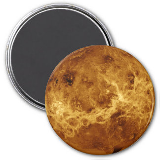 PLANET VENUS RADAR VERSION (solar system) ~ 7.5 Cm Round Magnet