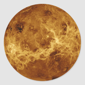 PLANET VENUS RADAR VERSION (solar system) ~ Classic Round Sticker