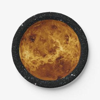 PLANET VENUS radar view star background ~ Paper Plate