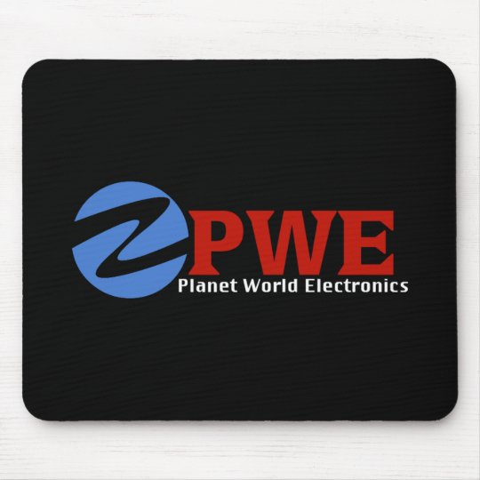 Planet World Electronics Black Mouse Pad