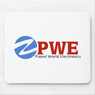 Planet World Electronics White Mouse Pad