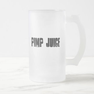 Planet X Designs Logo, PIMP JUICE Frosted Glass Mug