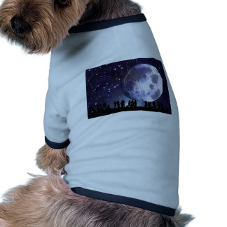 Planetarium Silhouettes Moon Stars Astronomy Doggie Tee