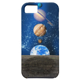 Planetary alignment, computer artwork. iPhone 5 covers