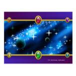 Planetary fantasy postcard