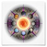Planetary Mandala Photo Print