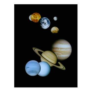 Planetary Montage Postcard