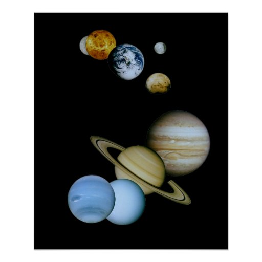 Planetary Montage Poster