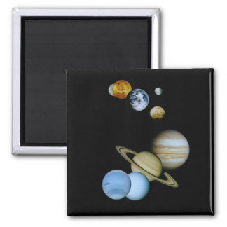 Planetary Montage Square Magnet