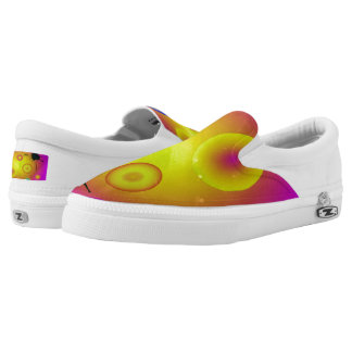 Planetary Pattern Slip On Printed Shoes