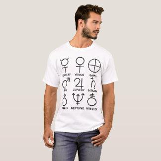 Planetary Symbols, whimsical T-Shirt