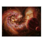 Planetary System and Antennae Galaxies Poster