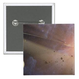 Planetary system Epsilon Eridani 15 Cm Square Badge