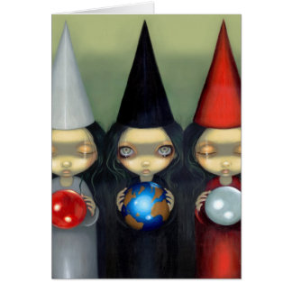 Planetary Witches Greeting Card