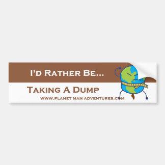 PlanetMan Bumper Sticker - I d Rather Be