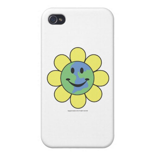 Planetpals-Flower Power Love Earth Design Case For iPhone 4