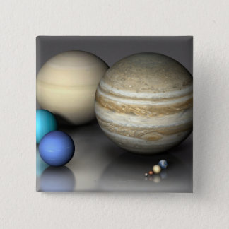 Planets 2 15 cm square badge