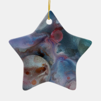 Planets amongst the  cosmos ceramic star decoration