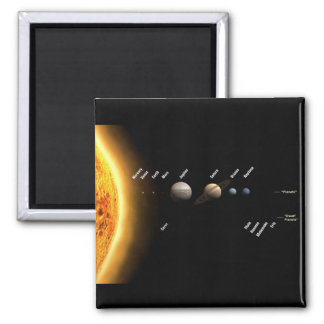 Planets and dwarf planets square magnet