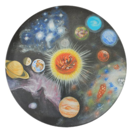 Planets and nebulae in a day plate