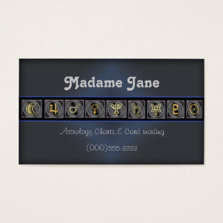 planets and readings business card