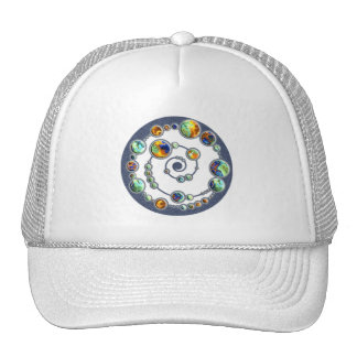 Planets crop circle formation + your backgr. color trucker hats